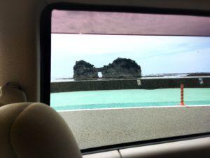 円月島の穴