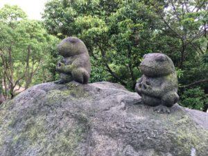 忍里のカエルスポット・かえる岩