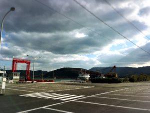 竹田津港スオーナダフェリーの駐車場
