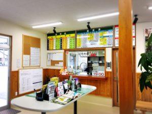 竹田津港スオーナダフェリー待合所の切符売り場