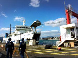 徳山港へ入ってくるスオーナダフェリー