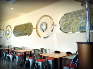スタジオスターズレストランの席