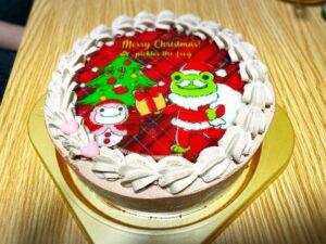 PRIROLLのかえるのピクルスのクリスマスケーキ