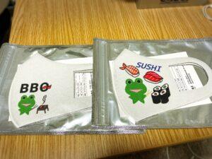 SUZURI(スズリ)で販売中のみらケロ作「カエルくん」マスク